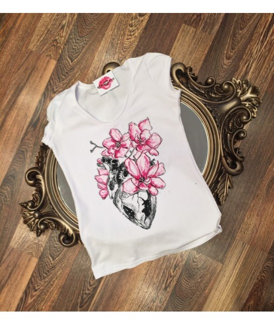 "Boutique Ladies T-shirt ""Pink-H"""