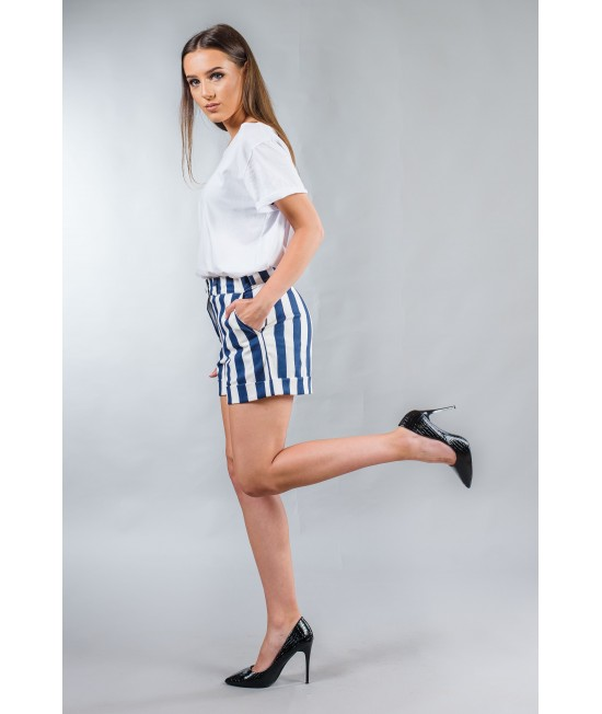 Ladies striped pants, high waist BW153