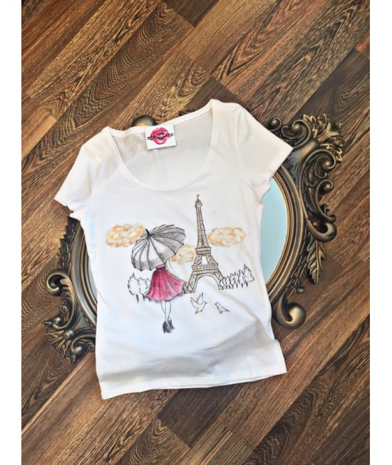 "Boutique Ladies T-shirt ""Eiffel Tower"""